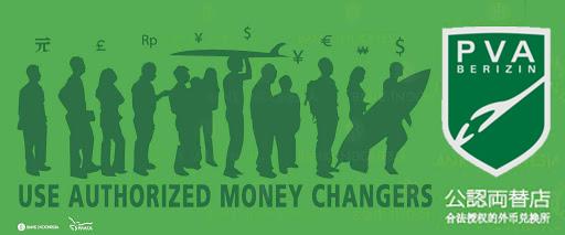 money changer berizin di Indonesia